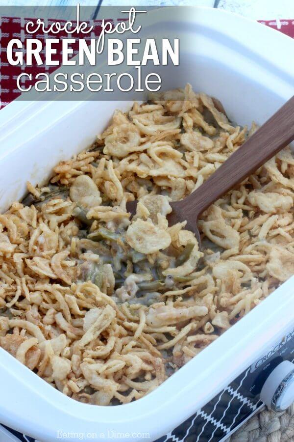 Easy Crock Pot Green Bean Casserole Recipe