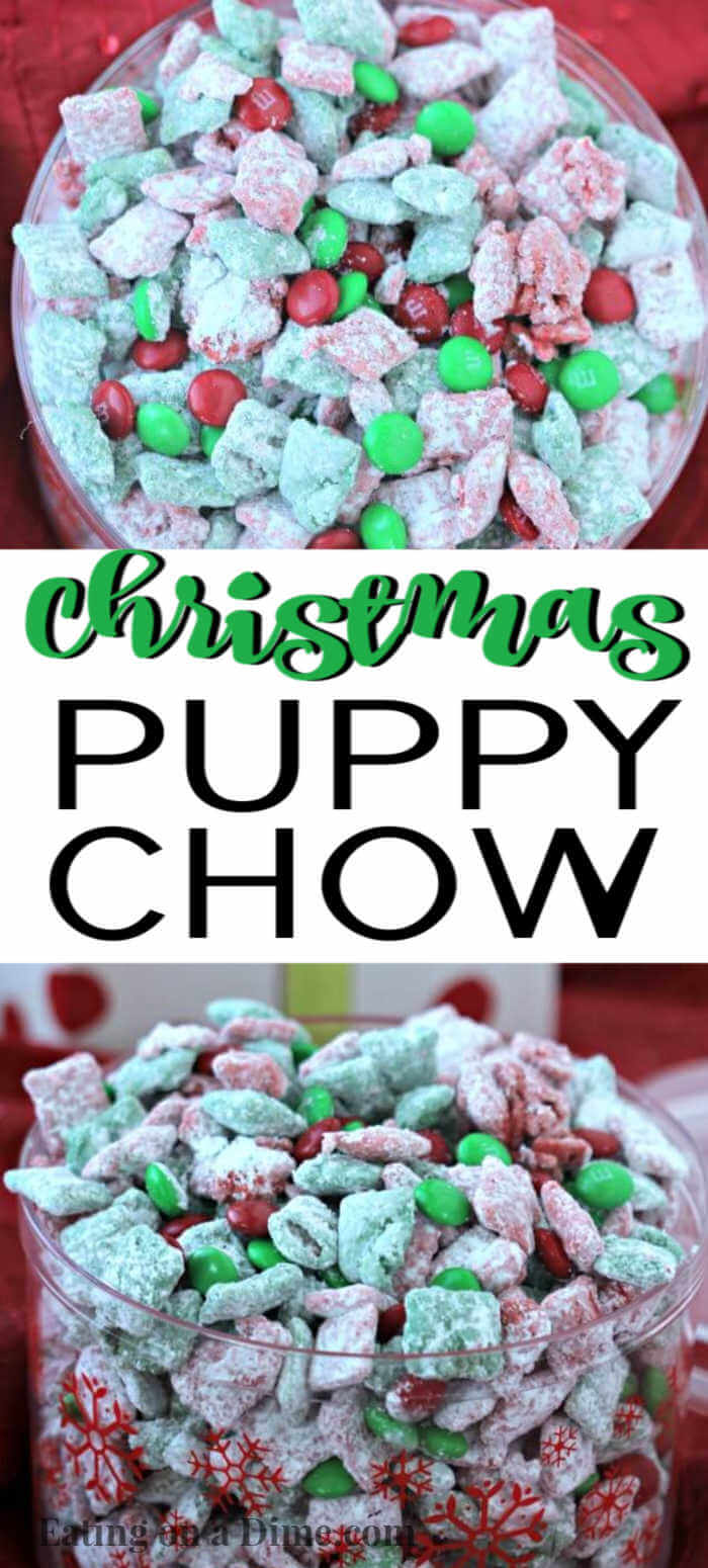 Christmas Puppy Chow Recipe Easy Chex Mix Muddy Buddies