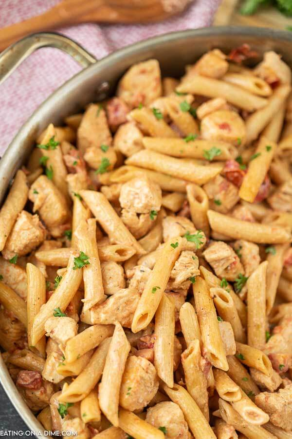 Creamy Cajun Chicken pasta is rich and flavorful without much work. The sauce is creamy with a little bit of heat for the perfect meal.