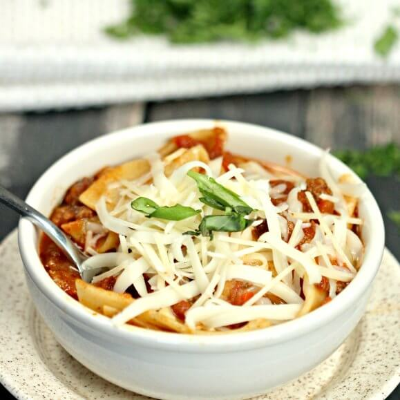 Crock Pot Lasagna Soup Recipe