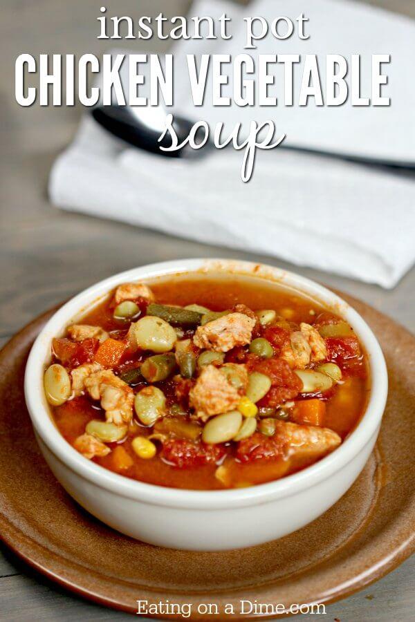 Instant Pot Chicken Vegetable Soup Recipe Pressure Cooker Recipes