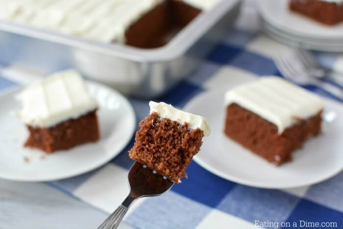 Learn how to make a chocolate cake from scratch. This easy chocolate cake recipe is simple to make and so delicious. You will never use a box mix again!