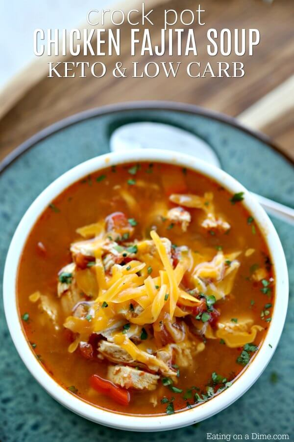 Crock Pot Chicken Fajita Soup Low Carb Crock Pot Chicken Fajita