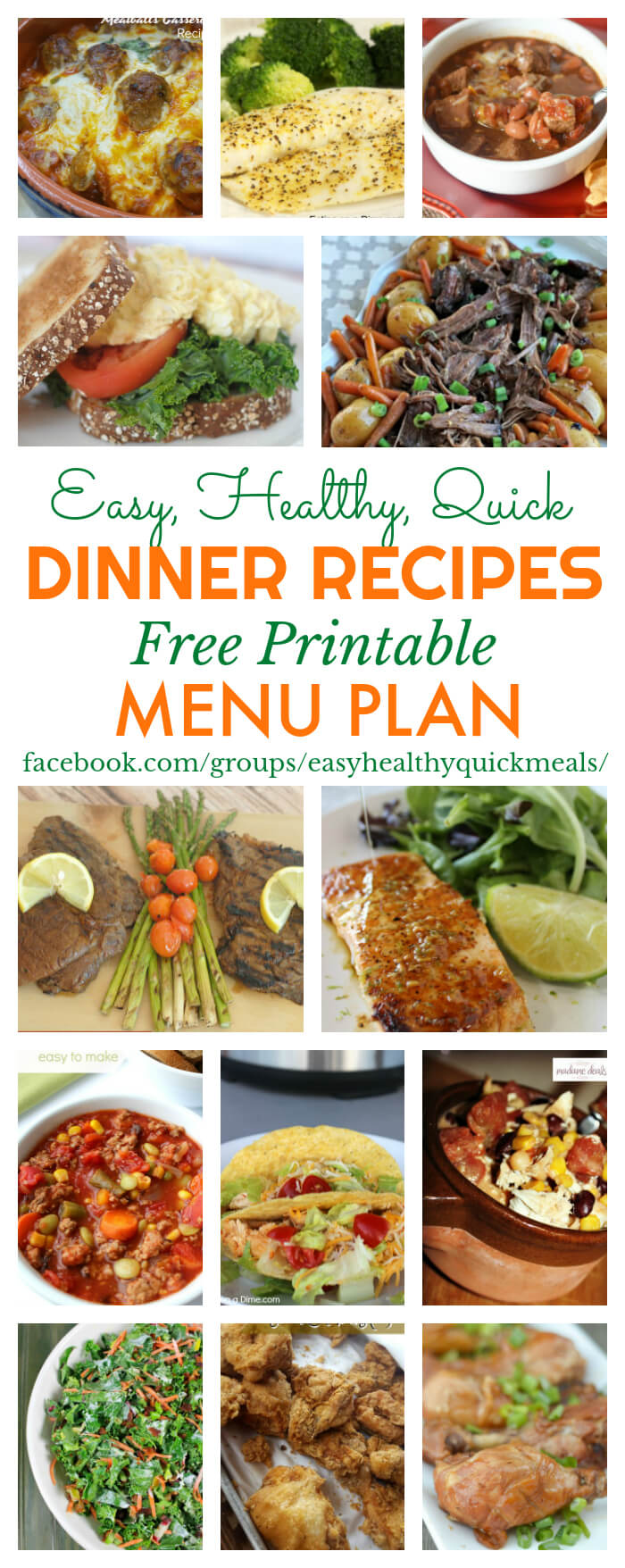 Get On Track With A Free Healthy Meal Plan For January This Menu