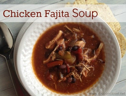Crock pot Chicken Fajita Soup - Eating on a Dime