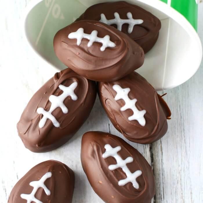 Football Shaped Chocolate Candy