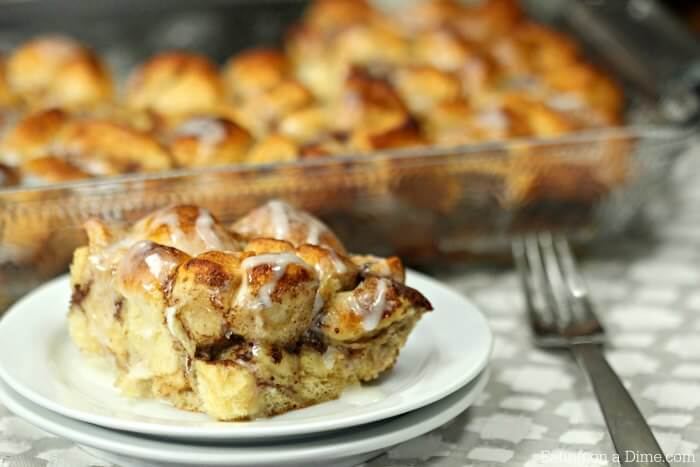This quick and easy Cinnamon Roll French Toast Casserole Recipe is going to impress! This cinnamon roll breakfast casserole is simple yet tastes amazing!