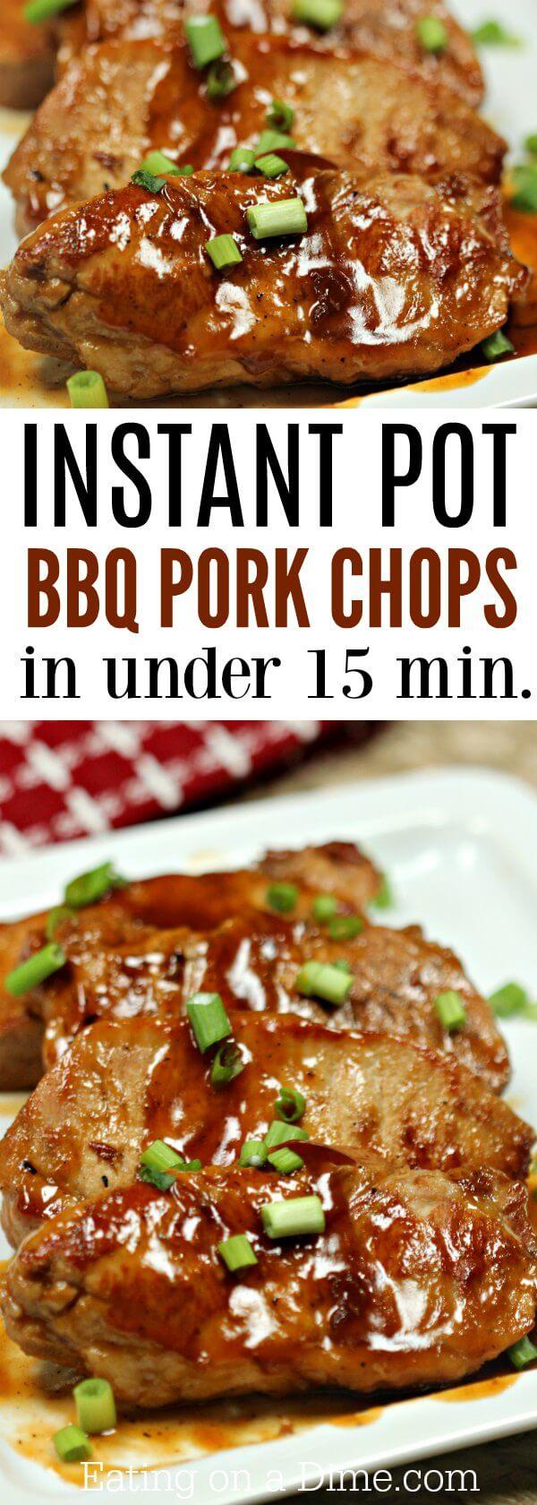 Instant Pot Bbq Pork Chops Recipe Easy Dinner Idea