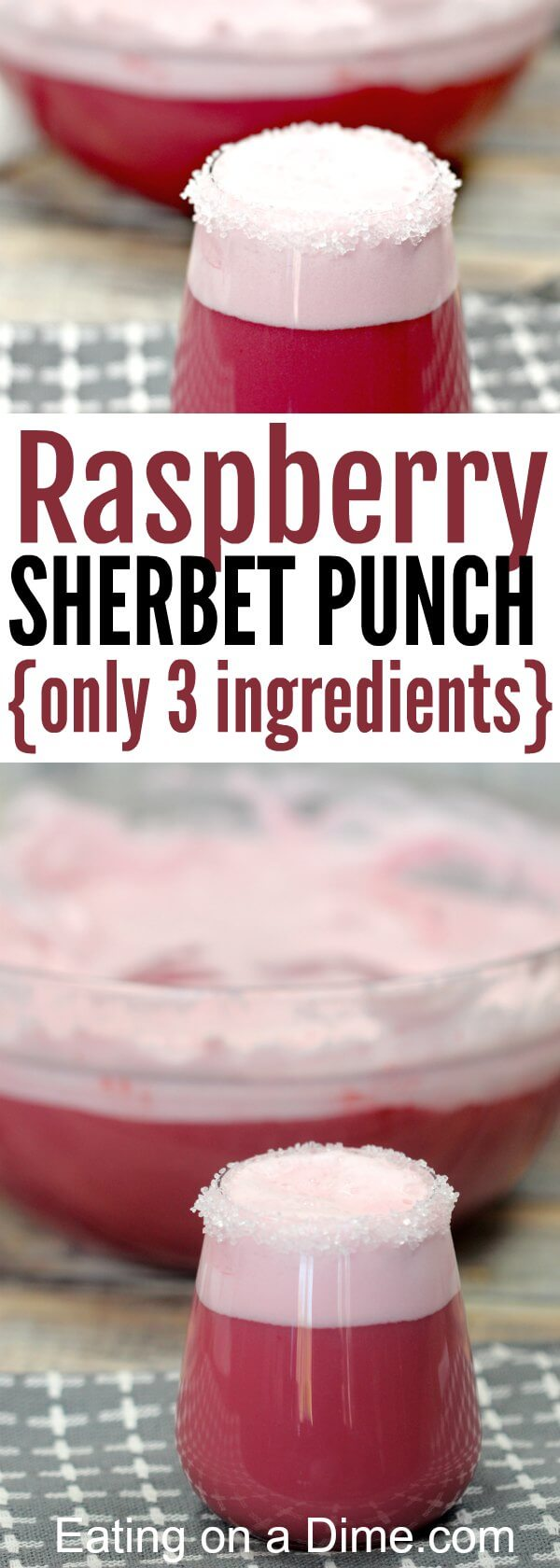 You will love this Easy Raspberry Sherbet Punch Recipe. It is the best pink punch recipe you can make. Try this punch recipe for baby showers and you will love it! This Sherbet punch with gingerale is so tasty!