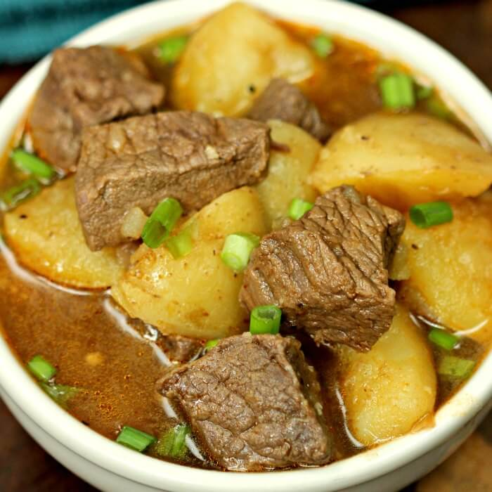 Instant Pot Steak And Potatoes Beef Stew Recipe Easy Steak And Potatoes Stew