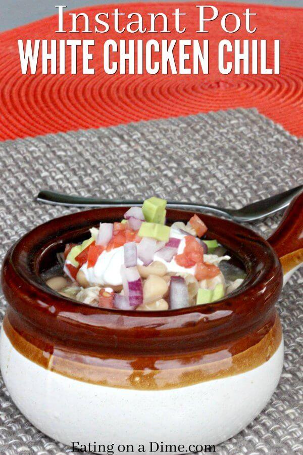 Instant Pot White Chicken Chili Recipe Easy Chili Recipe