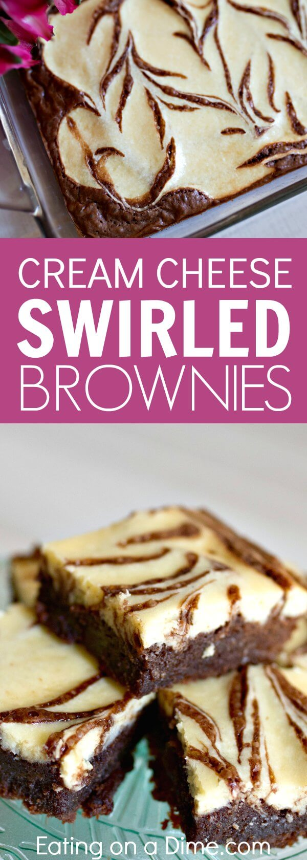 This easy cheesecake brownies recipe is sure to be a hit! Cream Cheese Brownies are so simple to make. Everyone will love cream cheese swirl brownies recipe. Once you know how to make cheesecake brownies, it's so easy!