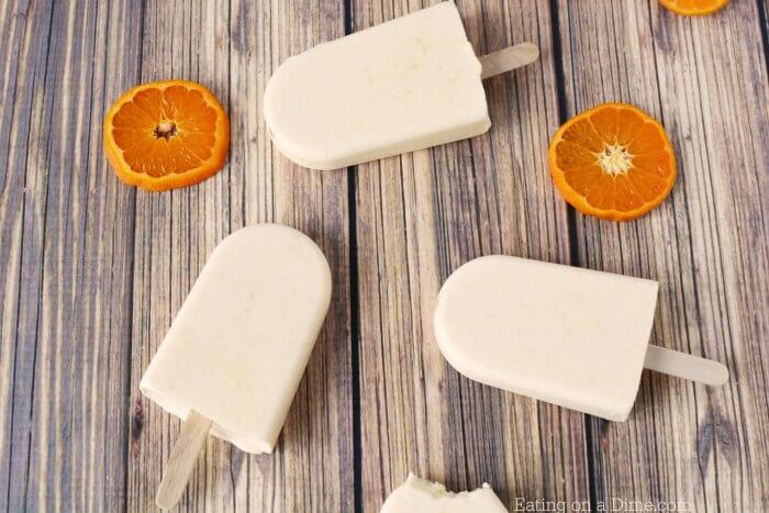 Everyone will love this Orange Creamsicle Popsicle recipe. The fresh orange and whipping cream make this orange creamsicle recipe so smooth and creamy. Try this Orange creamsicle recipe today. The kids will go crazy over it.