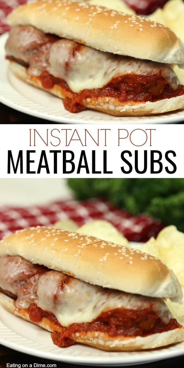 Instant pot Meatball Sandwich recipe is a quick and easy dinner everyone will love. The homemade meatballs and marinara sauce make an amazing meal. Instant pot meatball sub recipe is sure to be a hit. You can also try Instant pot meatballs over spaghetti.
