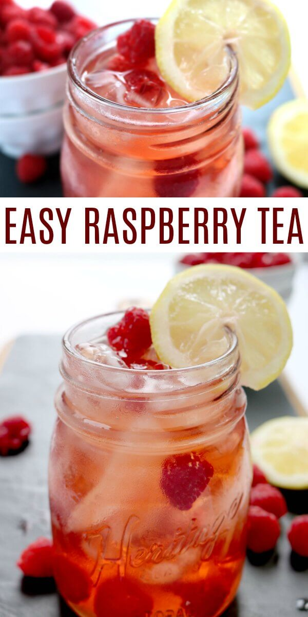 Raspberry iced tea recipe is so light and refreshing! It's the perfect drink to quench your thirst. The fresh raspberries in this Raspberry ice tea recipe make this iced tea so delicious! Learn how to make raspberry iced tea . It's perfect for parties, bridal showers, BBQ's and more!