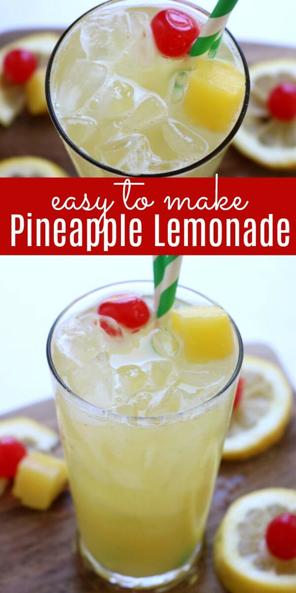 Try this Pineapple Lemonade Recipe for a refreshing Summer drink. Pineapple lemonade will quench your thirst on a hot day. Learn how to make lemonade with pineapple. It is the perfect drink for parties, BBQ's and more. Everyone will love Homemade lemonade with pineapple!
