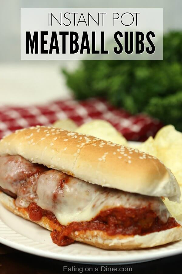 Instant Pot Meatball Sandwich Recipe Instant Pot Meatball Sub Recipe