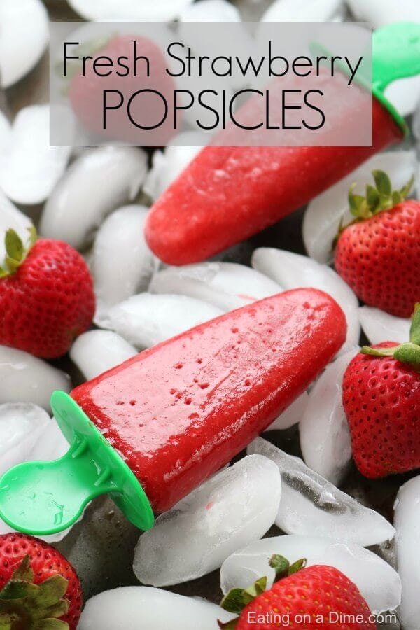 Strawberry popsicles are the perfect treat to make this Summer. Strawberry popsicles recipe tastes so refreshing. Try this fresh strawberry popsicle!