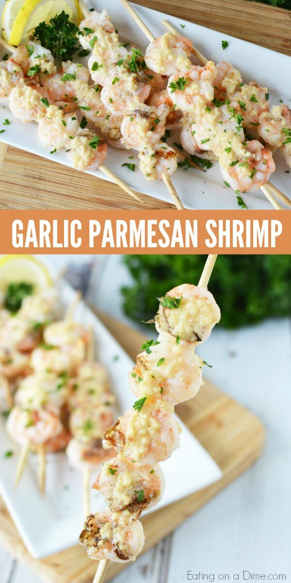 Garlic Parmesan grilled shrimp recipe is so tasty! Once you learn how to grill shrimp, it's very easy. Try Grilled shrimp recipe with butter and garlic!
