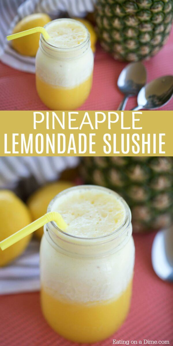 Pineapple Lemonade Slushie Recipe is perfect to beat the heat. Lemonade punch is so refreshing. Try Pineapple Lemonade Punch for parties. Simple and easy!