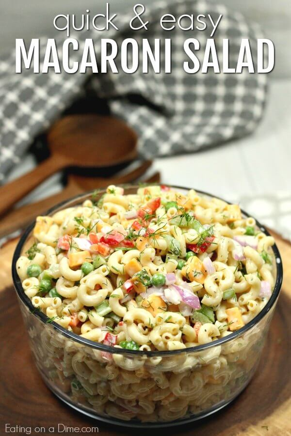 how to make quick and easy macaroni salad