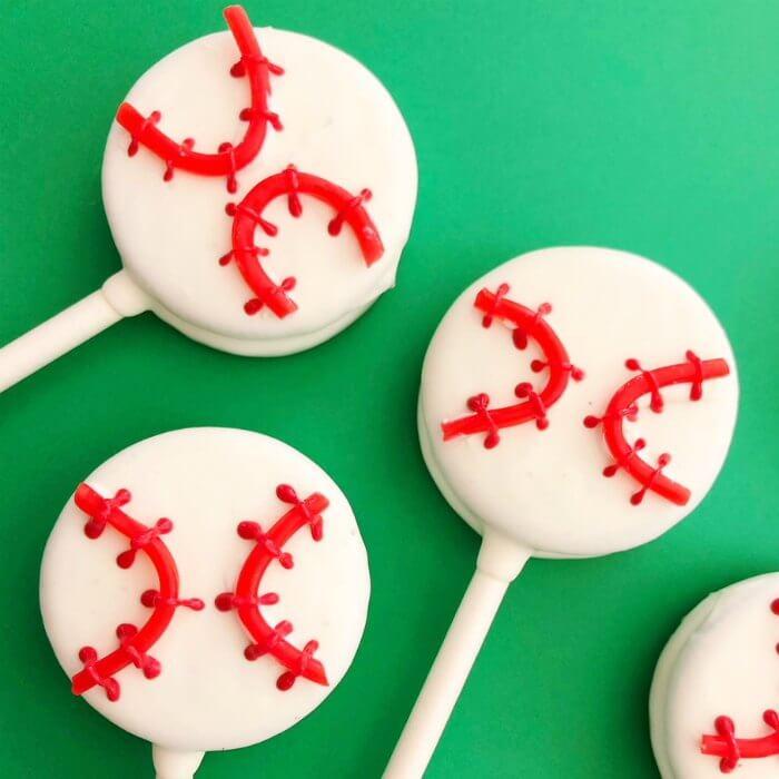 Baseball Oreo Pops Easy Baseball Chocolate Covered Oreo Pops