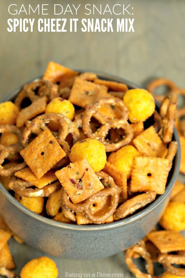 Easy Spicy Cheez-It Snack Mix Recipe - Eating on a Dime