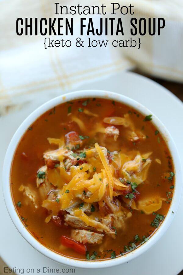 Instant Pot Chicken Fajita Soup Pressure Cooker Chicken Fajita Soup
