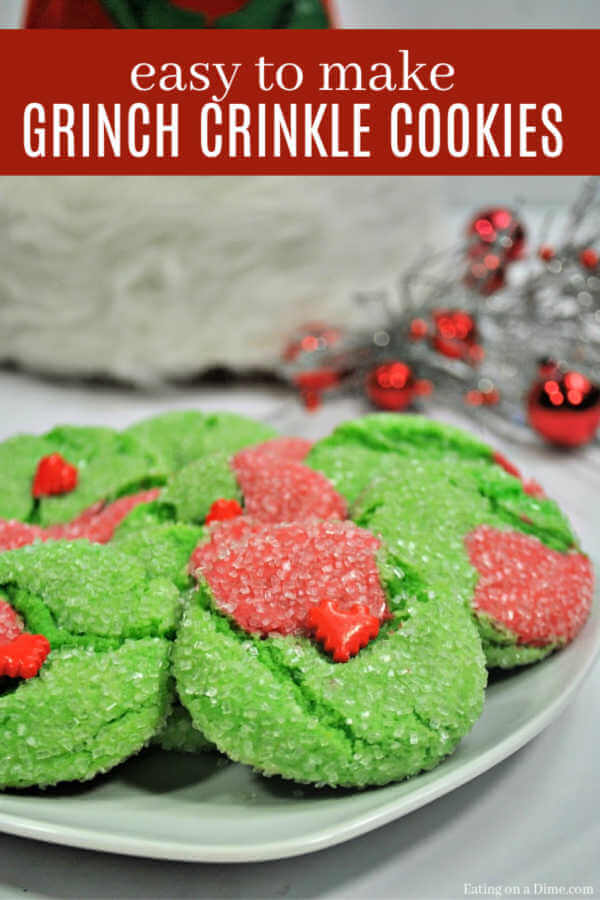Learn how to make fun and easy Grinch Cookies Recipe. Grinch Cookies are delicious and sure to be a special holiday tradition to enjoy with your family!