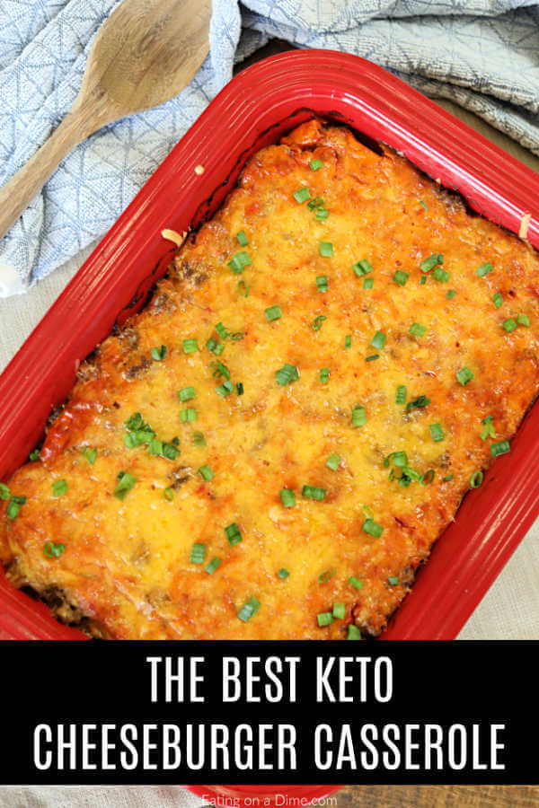 Low Carb Cheeseburger Casserole Recipe So Easy And Keto