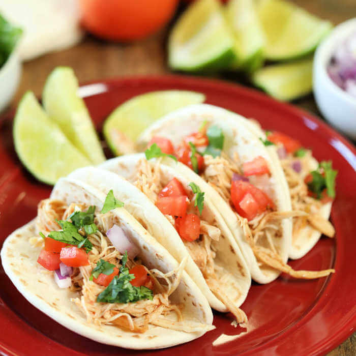Instant Pot Chicken Ranch Tacos Recipe Only 4 Ingredients