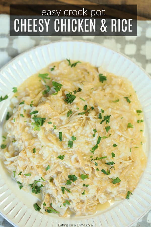 Crock Pot Chicken and Rice Recipe - Slow Cooker Chicken and Rice