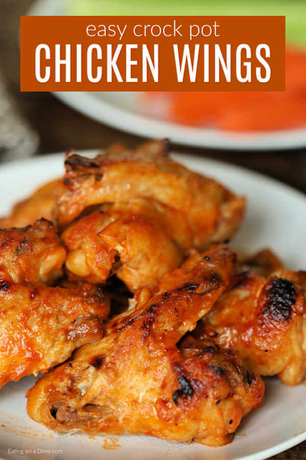 Crock Pot Buffalo Chicken Wings Recipe - Easy Buffalo Chicken Wings