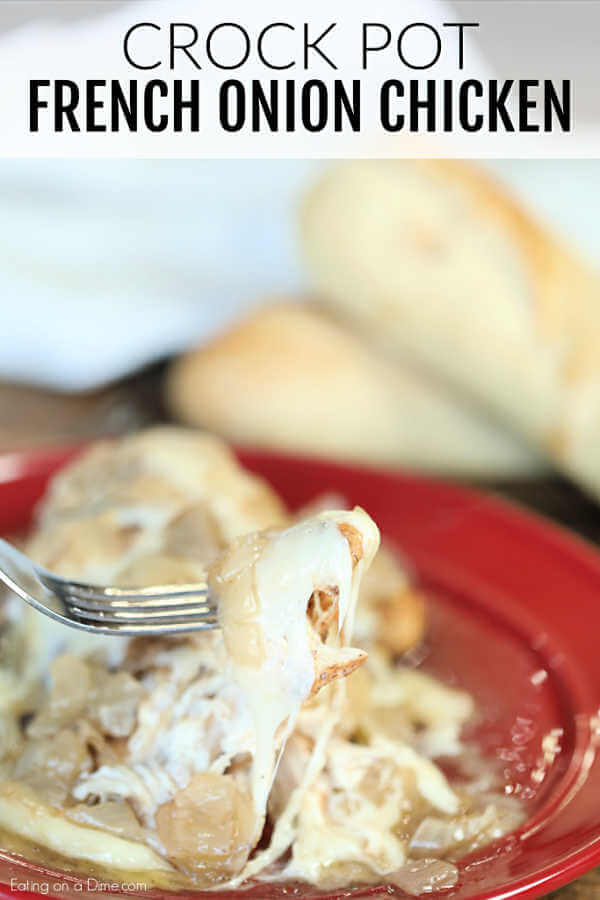 If you love french onion soup, Crock Pot French Onion Chicken Recipe is a must try. French Onion Chicken is tender and delicious. Plus, so easy!