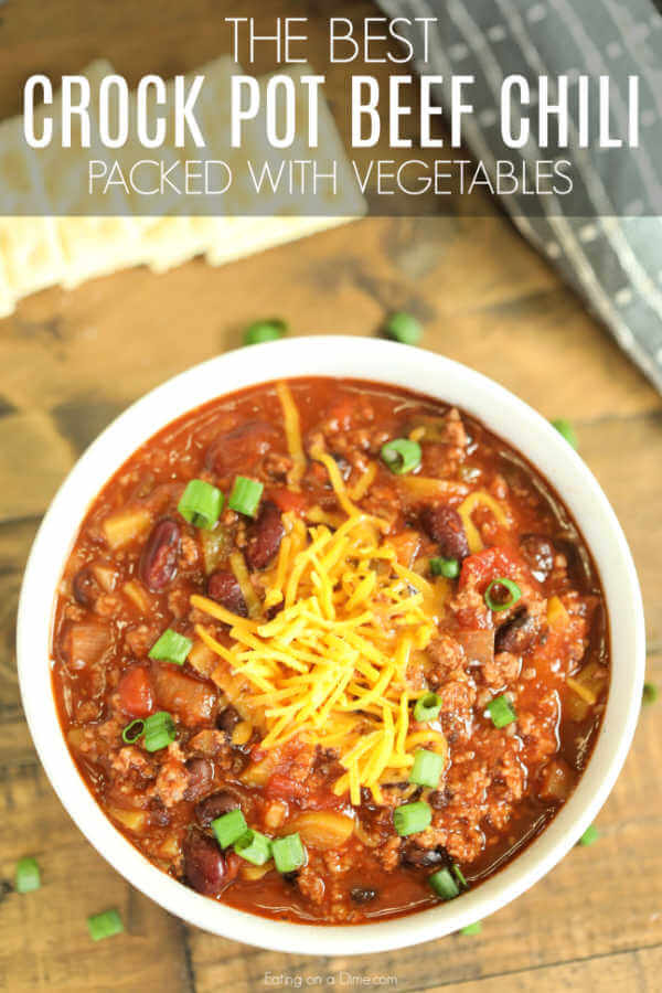 Crock Pot Vegetable And Beef Chili Recipe Easy Vegetable Beef Chili