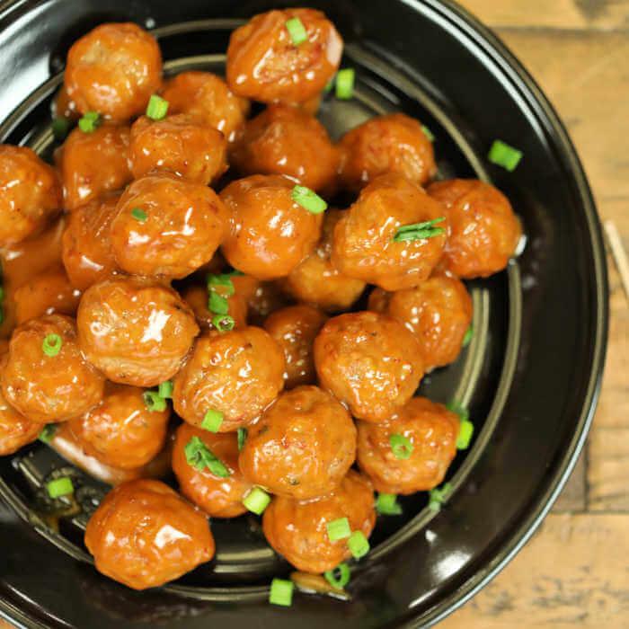 crockpot appetizer meatballs spicy