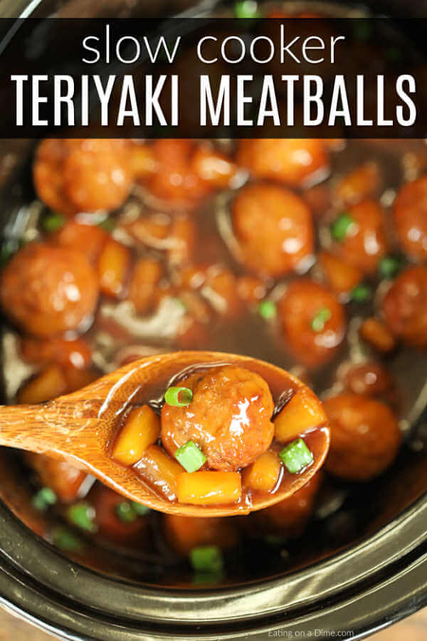 We have the perfect recipe for family dinner, game day and more.Slow Cooker Teriyaki Meatballs Recipe is sweet and savory and easy with just 4 ingredients.
