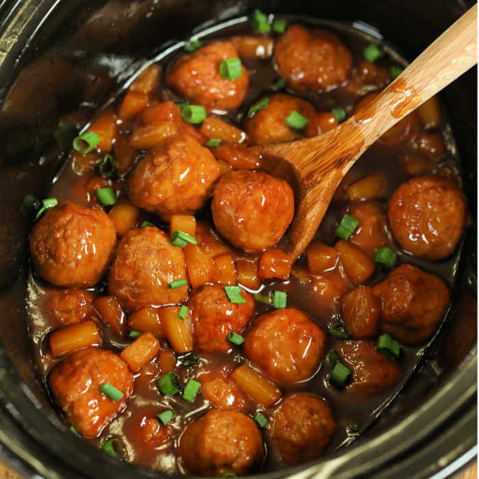 Slow Cooker Teriyaki Meatballs Recipe Only 4 Ingredients