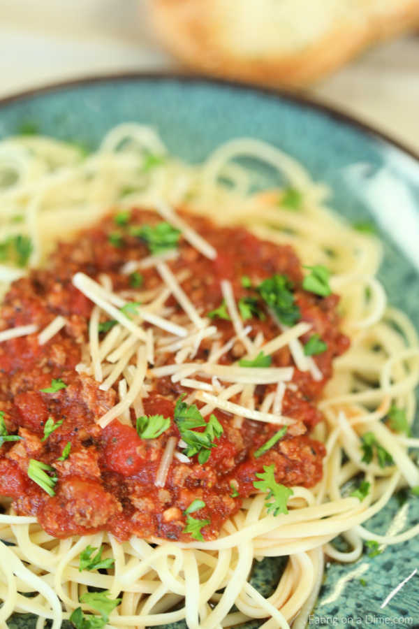 Enjoy Instant Pot Bolognese Sauce Recipe in minutes thanks to this easy recipe. Get dinner on the table in under 20 minutes for a hearty meal.