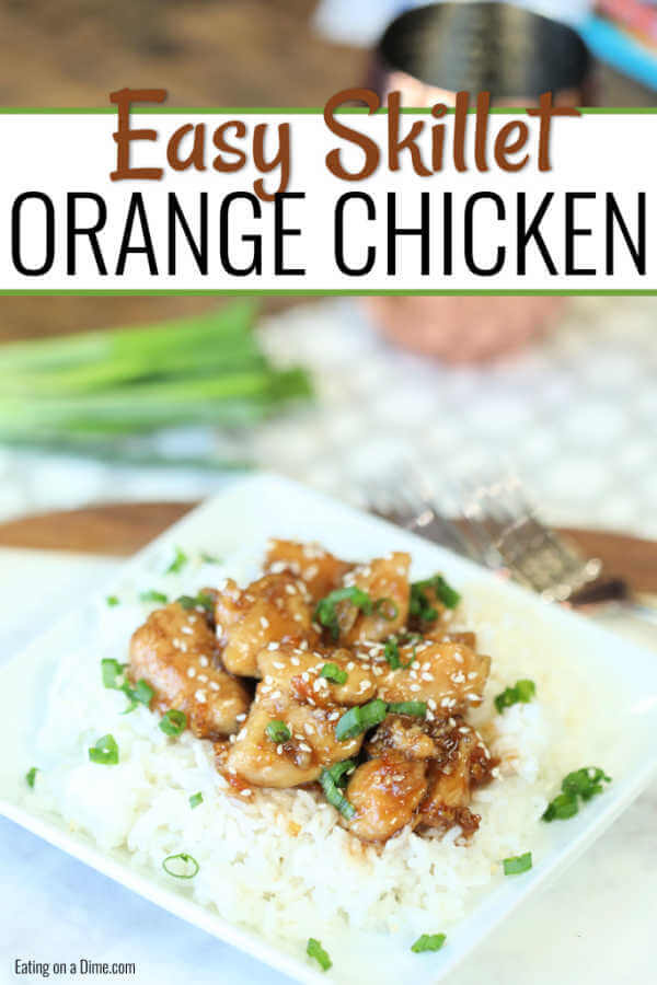 Orange chicken recipe is a skillet meal perfect for busy weeknights. Anytime our family wants take out, I make this instead. The orange sauce is divine.