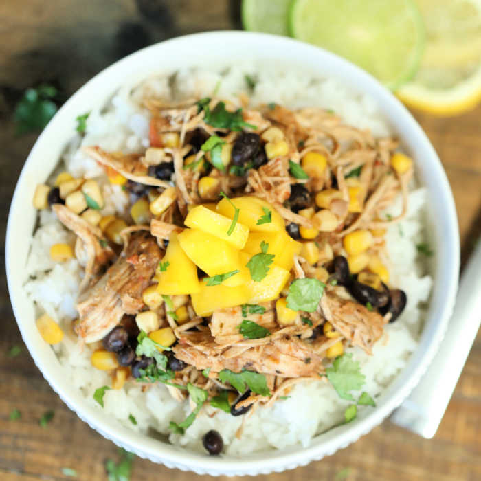Crock Pot Mango Salsa Chicken is an amazing flavor packed meal. The mango salsa blends perfectly with the chicken for the best sweet and spicy flavor.