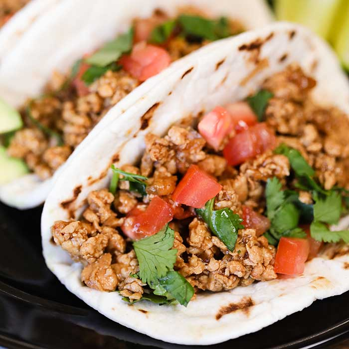 Cilantro lime chicken tacos have fantastic flavor and the entire dish comes together in minutes. Skillet dinners are so easy and these tacos are amazing.
