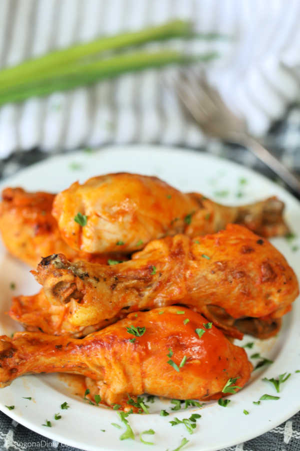 Enjoy delicious buffalo chickendrumsticks any day of the week when you make easy Crock pot Buffalo Chicken Drumsticks Recipe. Packed with tons of flavor!