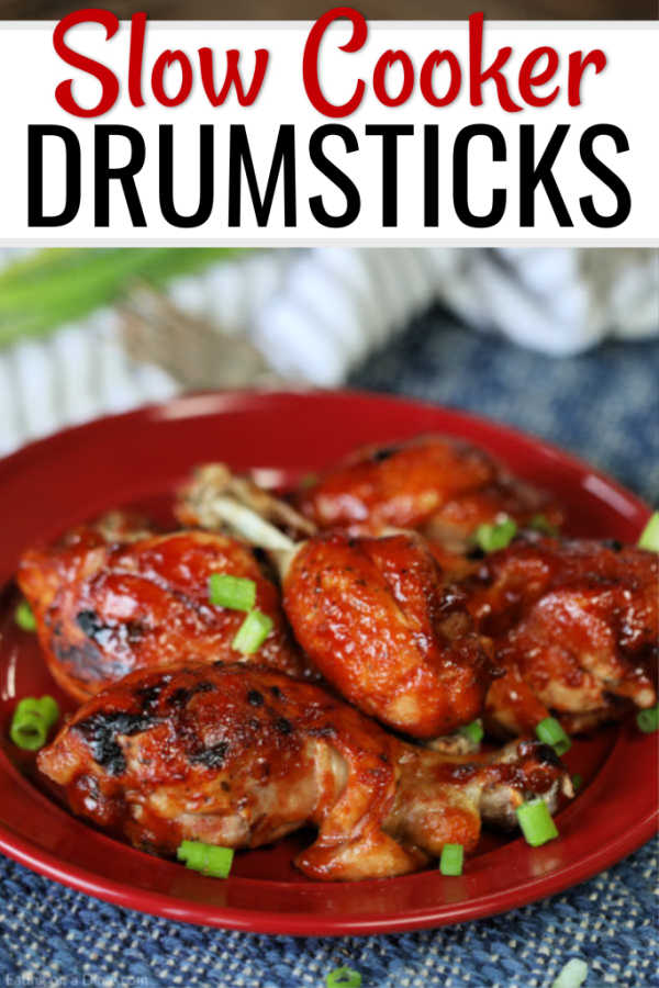 Crock pot BBQ Ranch Drumsticks Recipe gets dinner on the table fast. Toss everything into the slow cooker for perfect drumsticks. This is a family favorite!