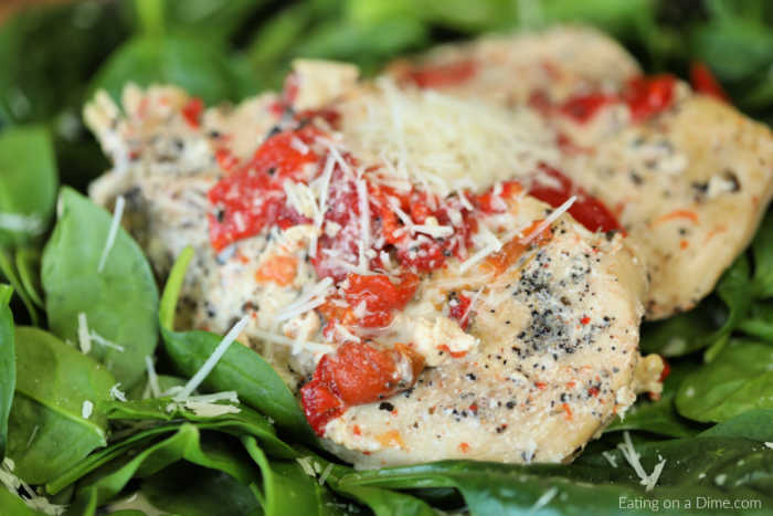 Roasted Red Pepper Keto Chicken Recipe is easy to make with tasty red pepper cream sauce.Enjoy tender chicken and red peppers in this keto friendly recipe.