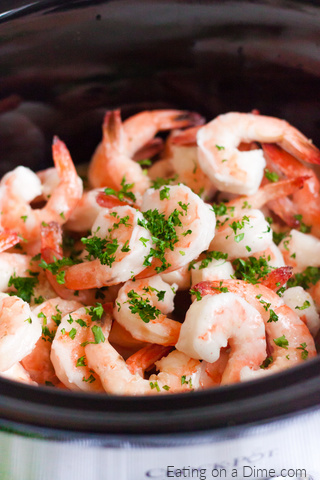 Crock Pot Shrimp Scampi Recipe is a simple and tasty recipe that can be prepared with little effort. Lemon, Parmesan cheese and more make this meal amazing.