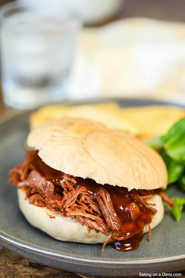 You are going to love this crock pot brisket sandwich recipe. I hope you try this quick and easy slow cooker chopped brisket recipe today!