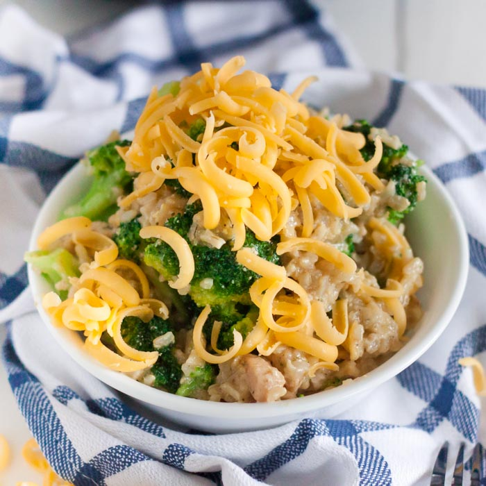Crock pot chicken broccoli and rice casserole is a one pot meal everyone will love. Skip the take out line and come home to this delicious dinner.