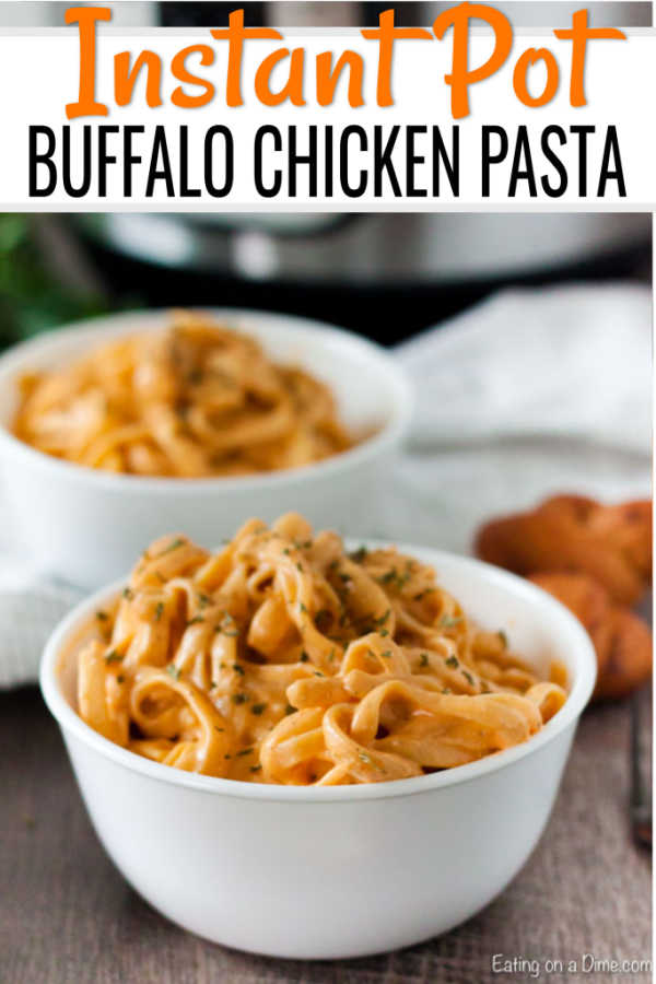 Instant Pot Buffalo Chicken Pasta Pressure Cooker Pasta Recipe