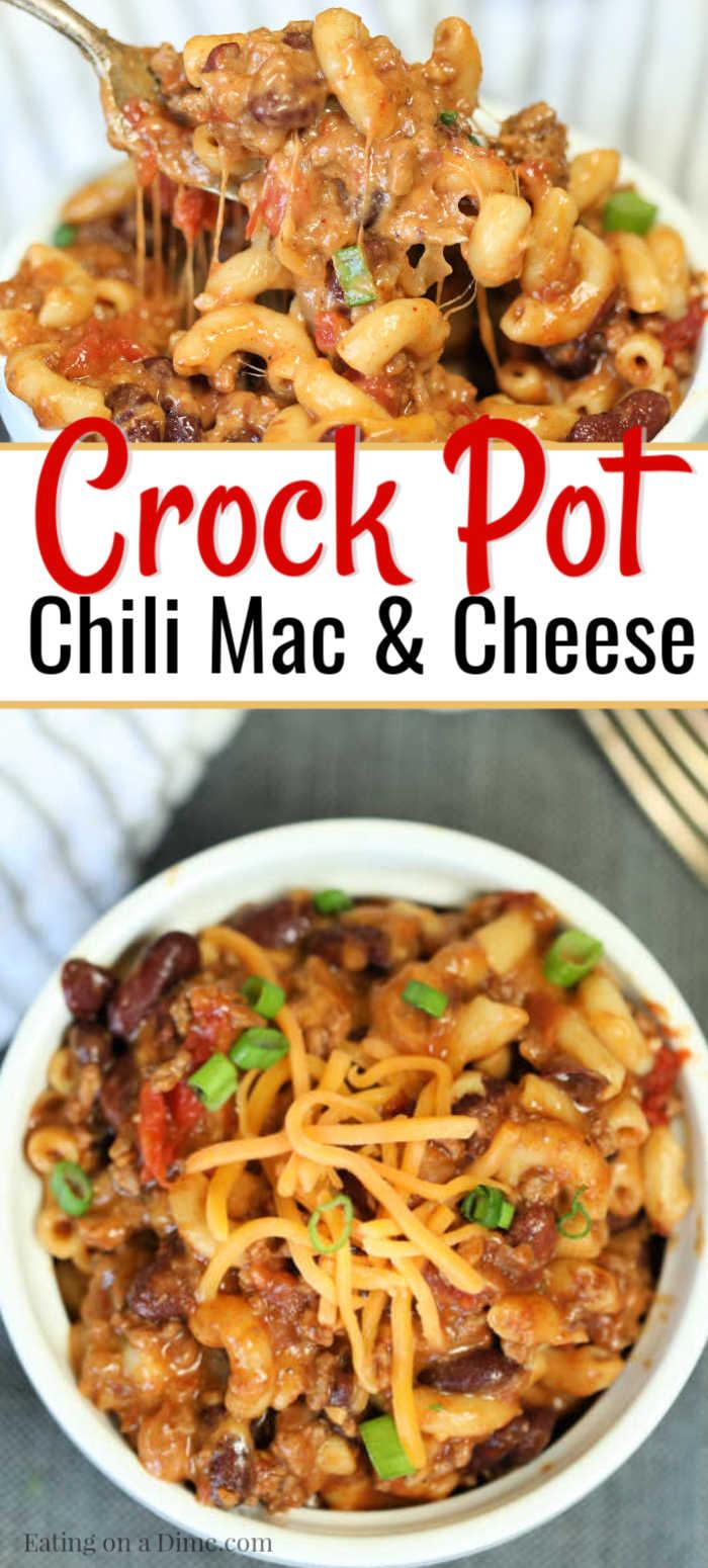 crock pot chili mac cheese recipe